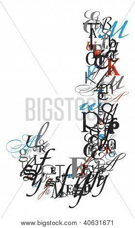 Letter J, Alphabet From Letters