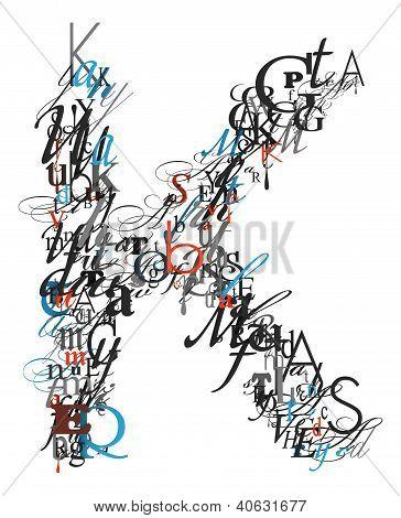 Letter K, Alphabet From Letters