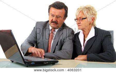 Businessteam en edad madura