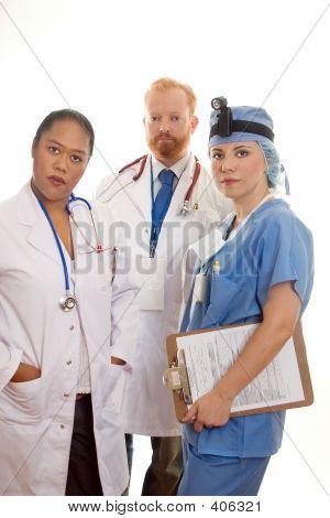 Three Medical Professionals