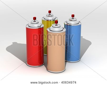 Spray cans