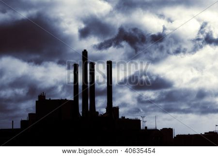 Energy Power Plant Silhouette