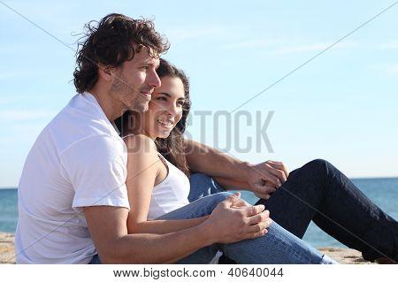 Man And Woman Couple Flirting