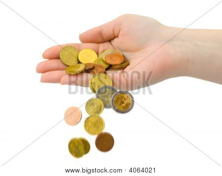 Hand And Falling Coins