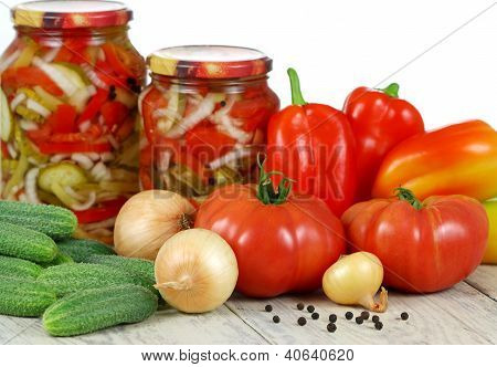 Canned Vegetable Salad. ?omemade