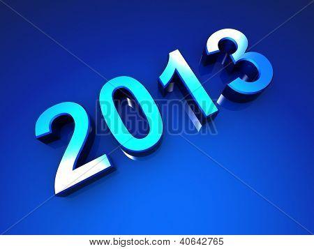 Happy new year 2013 celebration greeting card design