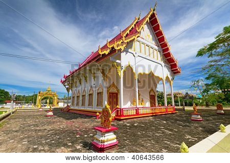 BANG MUANG, THAILAND - NOV 15: Wat Rat Niramit Temple in Bang Muang town. This Buddhism temple is a tourist attraction in Phang Nga province, Thailand on Nov.15, 2012.