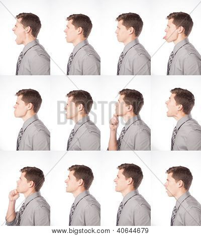 One Dozen Profile Expressions