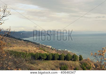Crimea in the area of Alushta