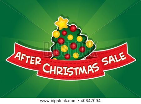 After Christmas Sale Banner / Christmas Tree