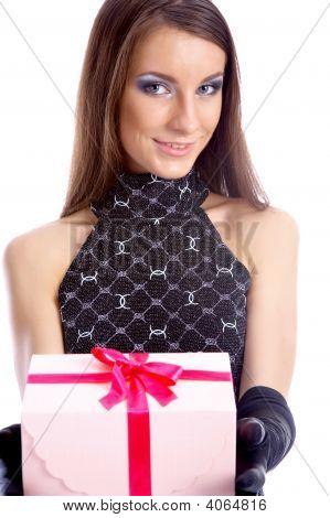 Model Gives Present