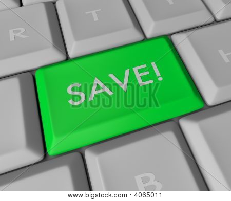 Save Key On Computer Keyboard