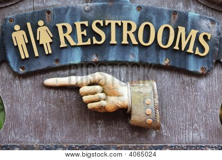 Sign For Restrooms