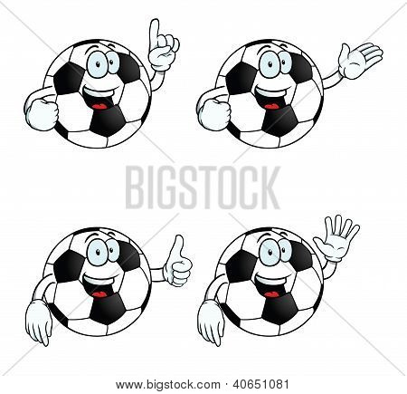 Talking Cartoon Football Set
