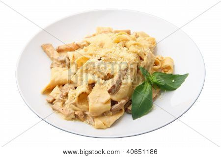 Papardelle With Ceps And Sauce