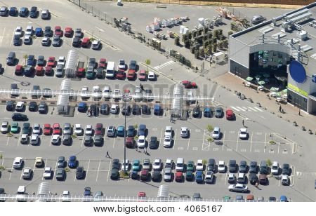 Aerial View Of A Supermarket