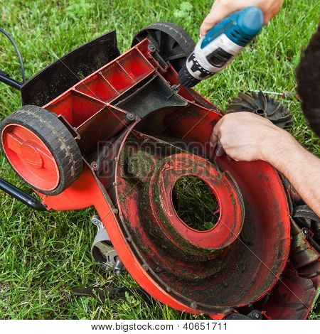Бензиновая газонокосилка ремонт своими руками 70