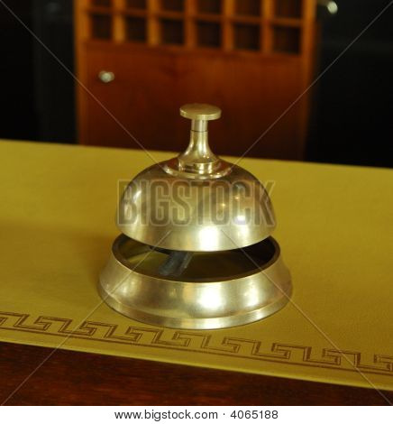 Service Ring Bell On A Hotel Desk