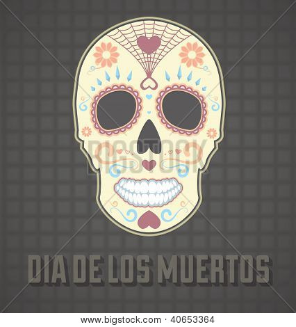 Day of the Dead Painted Skull Card