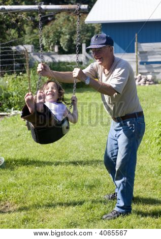 Swinging With Grandpa