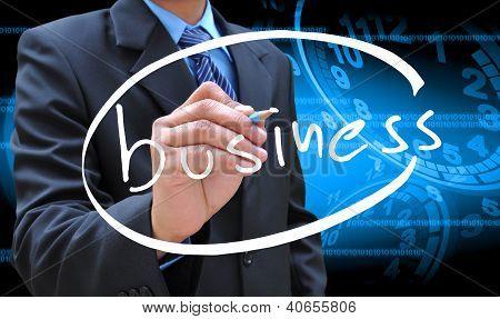 Geschäftsmann Hand Geschäft Schreibens