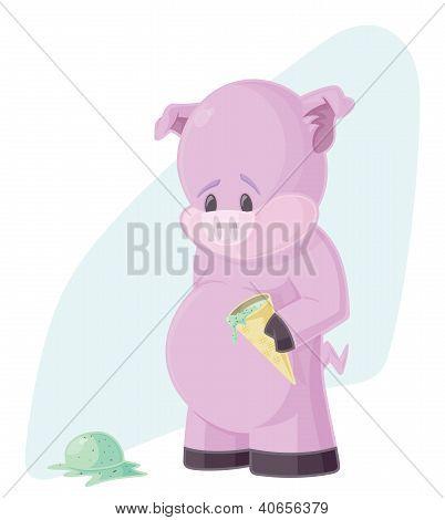 Sad Piggy