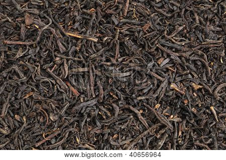 background texture of  loos leaf English breakfast (Assam) black tea from India