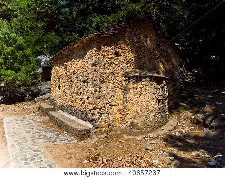Saint Nicholas chapel at Samaria gorge
