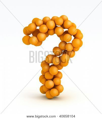Question Mark , Font Of Orange