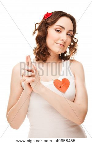Picture Of Girl Pointing Imaginary Gun