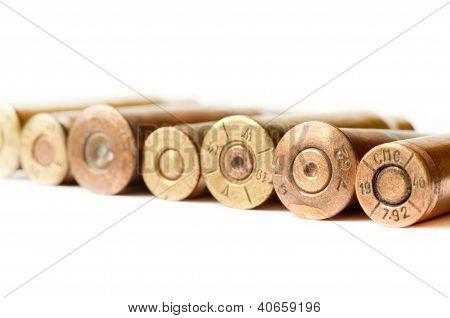 Set Of Gun Bullets