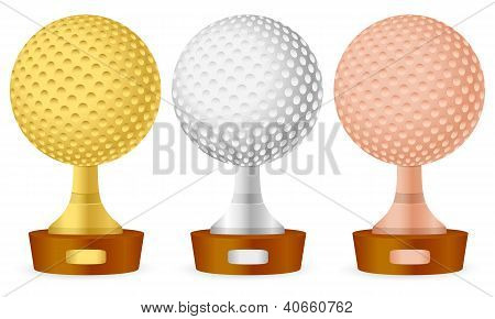 Golf Trophy Set