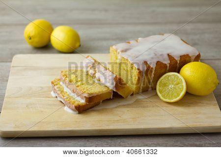 Sliced Lemon Loaf Cake