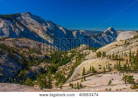 A View To Yosemite Valley From Olmsted Point, Yosemite National Park.