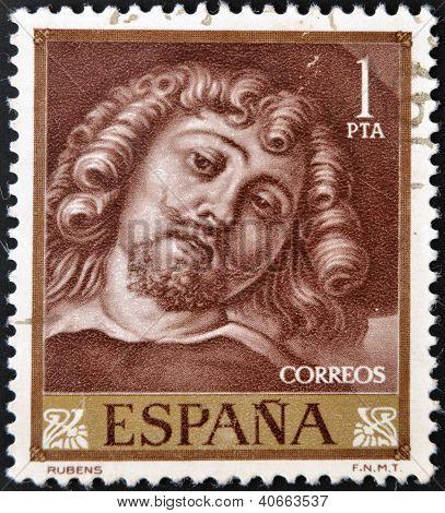 SPAIN - CIRCA 1962: A stamp printed in Spain shows Rubens circa 1962
