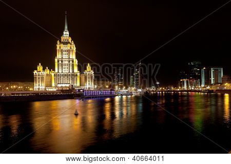 World Trade Center And Ukraina Hotel In Moscow, Russia