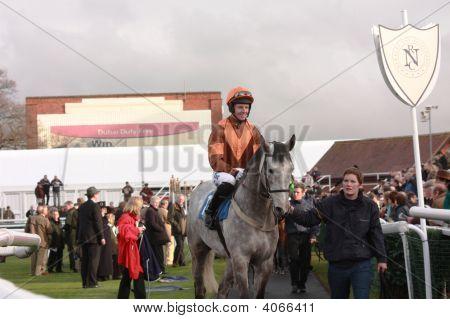 Noel Fehily Competes At Newbury Races