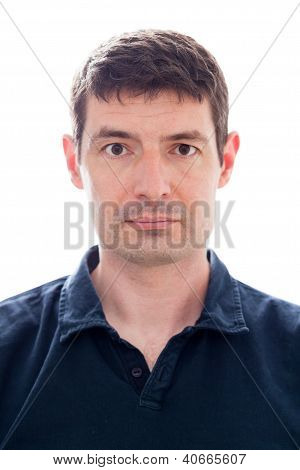 Late Thirties Male Passport Photo