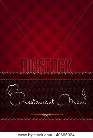 Abstract restaurant menu cover