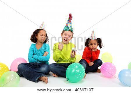 Happy Birthday Boy with jealous friends