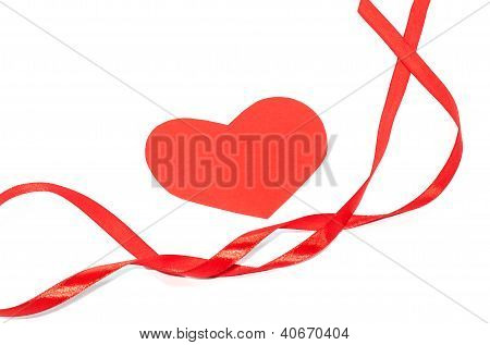 Valentine ribbon with hearts