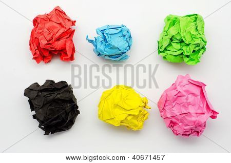 Colorful torn Paper