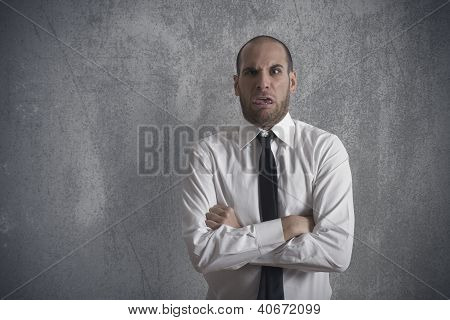 Disgusted Businessman
