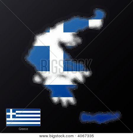Griechenland moderne Halbton Kartenelement design