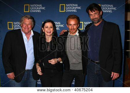 "LOS ANGELES - JAN 3:  Graham Beckel, Geraldine Hughes, Jesse Johnson and Billy Campbell arrives at the National Geographic ""2013 Winter TCA"" Party. at Langham  Hotel on January 3, 2013 in Pasadena, CA"