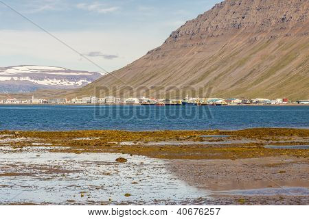 View On Isafjordur Town - Iceland.