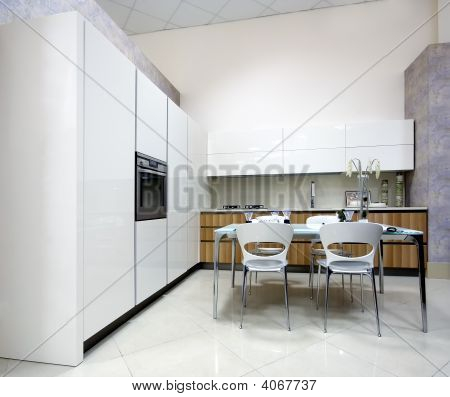 Luxurious Kitchen In Showroom