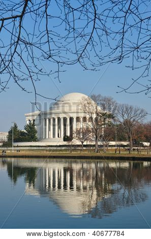 Thomas Jefferson Memorial in winter - Washington DC, United States