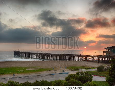 Sunset At Dusk Ventura Pier California