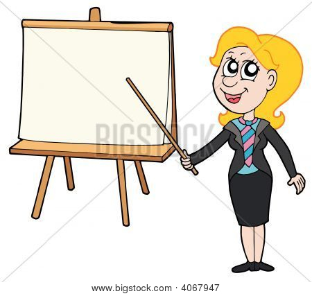 Businesswoman With Table